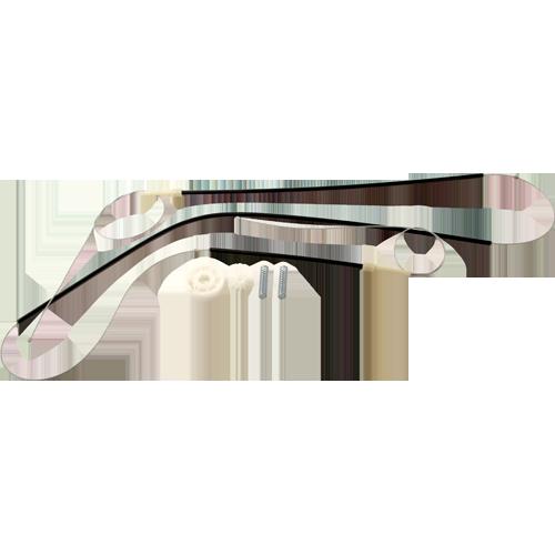 Kit para Máquina de Vidro Elétrico - Porta Dianteira Gol GIII *Com Roldana 208k